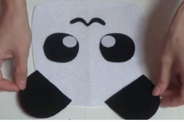 may balo vải cho bé trang trí mặt ngoài balo