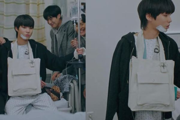 túi vải canvas phong cách Hàn Quốc trên phim Hàn