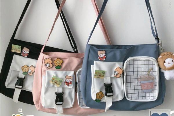 Túi vải canvas phong cách Hàn Quốc
